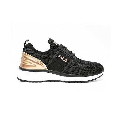 Zapatillas FILA Control Low para Mujer en Tejido Negro/Dorado 1010330-10V: Amazon.es: Zapatos y complementos