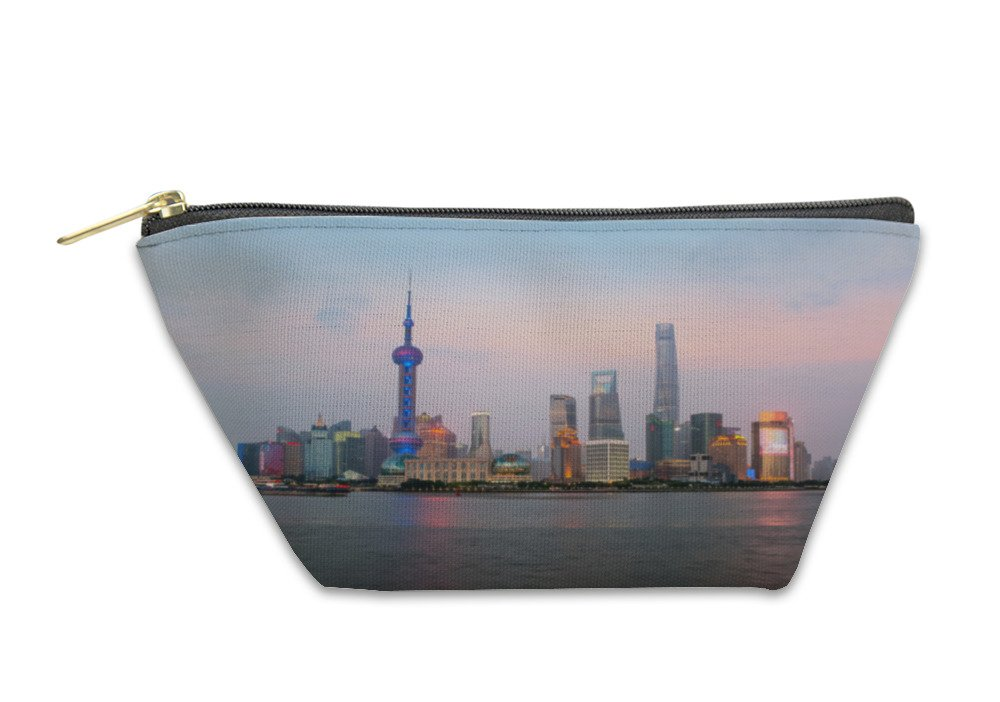 Gear New Accessory Zipper Pouch, Shanghai Skyline At Lujiazui Pudong Central Business Center In S, Small, 5900314GN