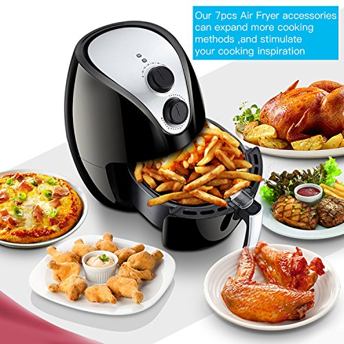 Air Fryer Accessories 7pcs for Gowise Phillips and Cozyna, fit all 3.7QT 5.3QT with 7 Inch Diameter by KINDEN by KINDEN (Image #6)