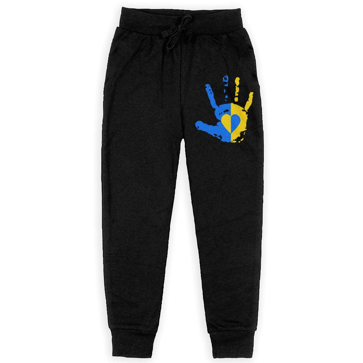 Down Syndrome Awareness Hand Soft//Cozy Sweatpants Teenager Jogger Pants for Teen Boy