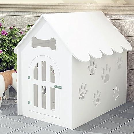 SYSTOND Dog House Placa de protección del medio ambiente Hueco hacia fuera Pet Playpen Plastic Kennel