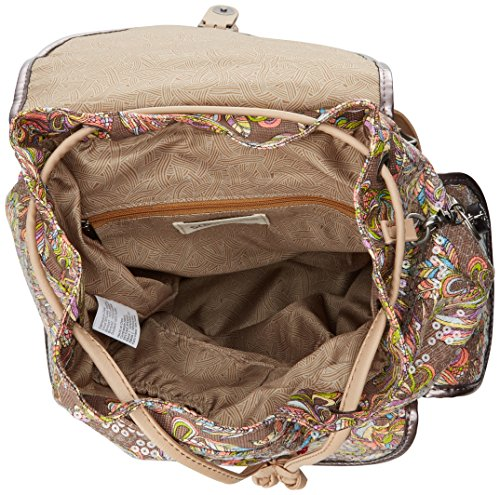 Sakroots Artist Circle Small Flap Backpack Sterling