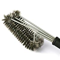 BBQ Grill Brushes - 3 Stainless Steel Brushes in 1 - 18 inch Powerful Grill Cleaner Best for cleaning iron, steel, porcelain and infrared Grills - [ DAGO-Mart Quality Guarantee ]