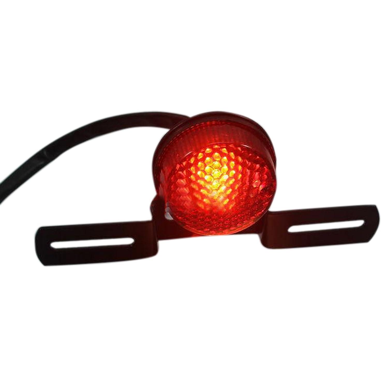 Motorrad mini Rücklicht  Rückleuchte Bremslicht LED Highsider E-geprüft neu