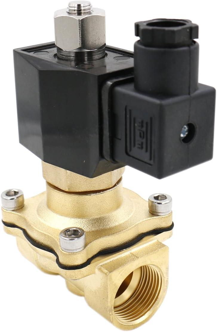heschen latón eléctrico válvula solenoide 2WK200–20Pt 3/4AC 220V acción directa Agua Aire Gas Normalmente Abierto