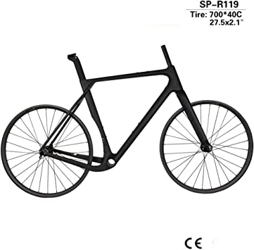TQ Juego Completo de Cuadros de Bicicleta de Grava para ciclocross de Carbono y Ruedas de MTB 27.5er Cubos Novatec D791SB / 792SB Eje pasante 142 * 12 mm,52cmmatte: Amazon.es: Deportes y