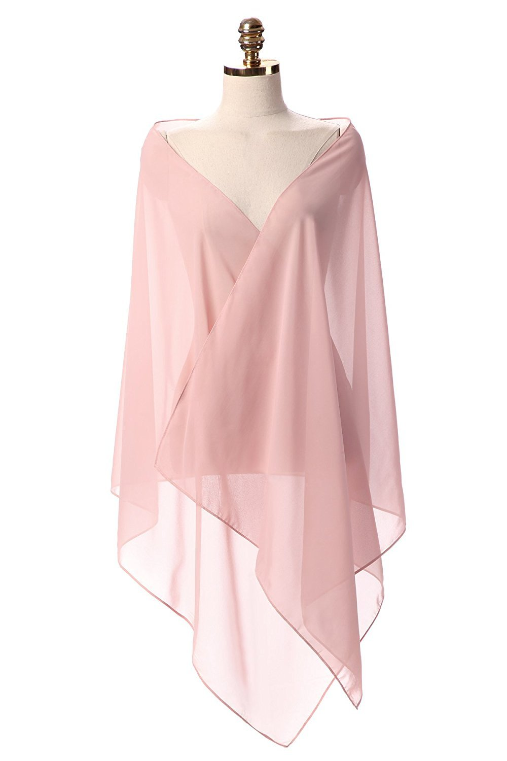 Sunnygirls Chiffon Shawl for Dresses in Different Colors To Each Wedding Dress (Blush)