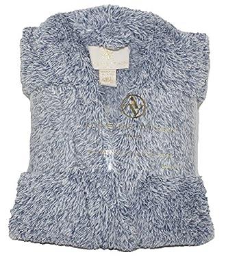 Adrienne Vittadini Women's Soft Textured Melange Plush Bath Robe w Side Seam Pockets | Knee Length