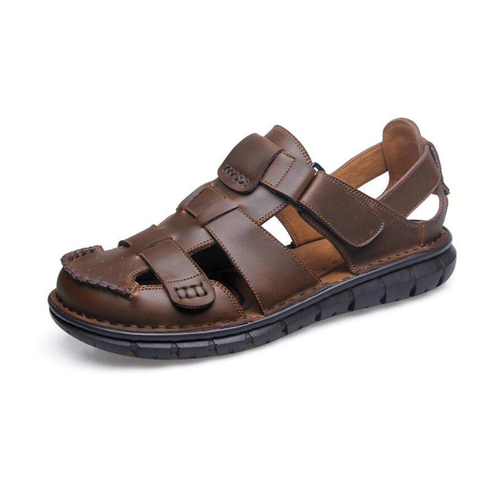 CJC Leather Sandals Men's Leather CJC Beach Shoes Slippers Mens Closed Toe (Color : B, Size : EU39/UK6) EU39/UK6|B B07F2R1KTD 11d5ca