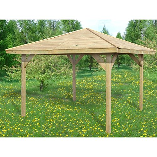 2-DAY PREMIUM SHIPPING AVAILABLE BRAND NEW 2.7m x 2.7m (Ex 3.2m x 3.2m) GARDEN WOODEN PAVILION GAZEBO PERGOLA HOT TUB