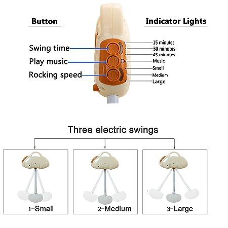 Amazon.com: WBPINE - Silla mecedora automática para bebé con ...