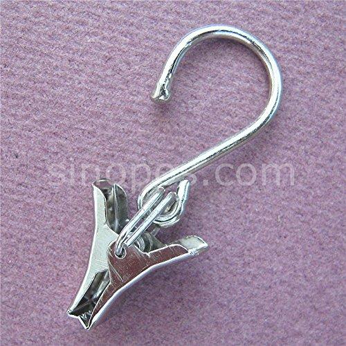 Generic plateado: abrazadera de acero con gancho 5 cm ...