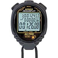 ACCUSPLIT AX602 Pro Memoria (100) 3 Visualización de la línea de cronómetro con tasa de Movimiento (Negro)