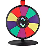 """WinSpin 15"""" 10 Slot Tabletop Color Dry Erase Prize Wheel and Stand Fortune Spinning Game Tradeshow"""