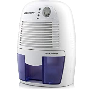 Pro Breeze Electric Mini Dehumidifier, 1200 Cubic Feet (150 sq ft), Compact and Portable for High Humidity in Home, Kitchen, Bedroom, Bathroom