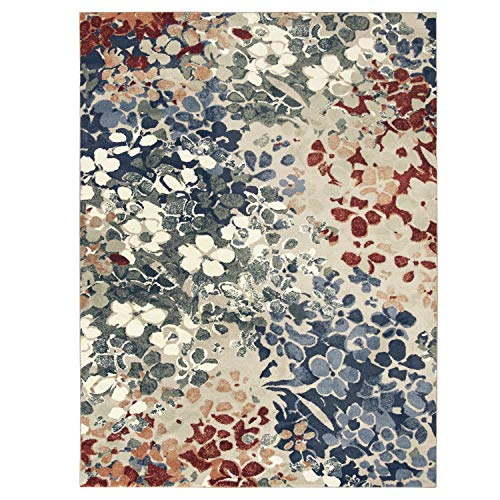 (Mohawk Home 12489 235 090120 EC Aurora Radiance Area Rug, 7'6x10', Royal)