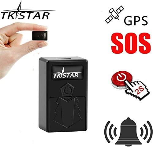 GPS Tracker for Kids, Mini Car GPS Tracker Personal Anti-Lost Alarms SOS Emergency GPS Realtime Tracking Device with Geofence Hidden GPS Locator for Kids Elderly Seniors Dogs Bike Assets Management
