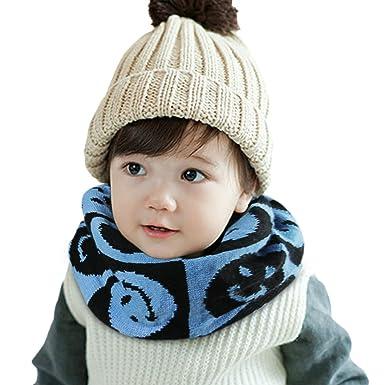 New Boy Girl Baby Winter Warm Scarf Knitting Wool Children Neck Warmer Xmas gift