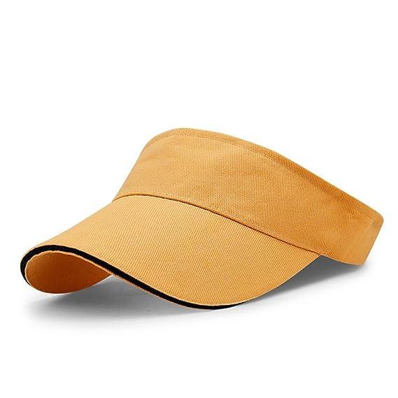 LAOWWO Visera Sombrero para el Sol - Sombreros Running Golf Tennis Deporte con Ajustable Velcro para