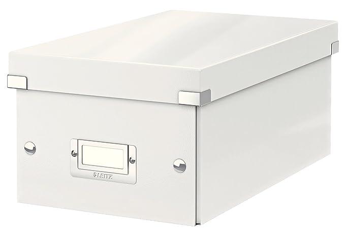 Leitz Caja para guardar DVD, Blanco, Click and Store, 60420001