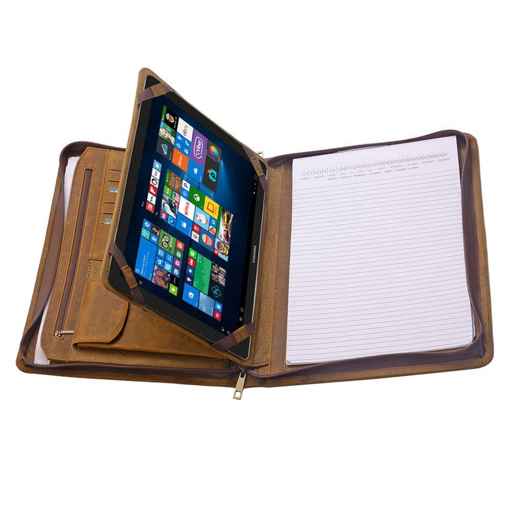 iPad Portfolio Case, Organizer Padfolio with Large Pouch Pocket, for Samsung Galaxy TabPro S 12