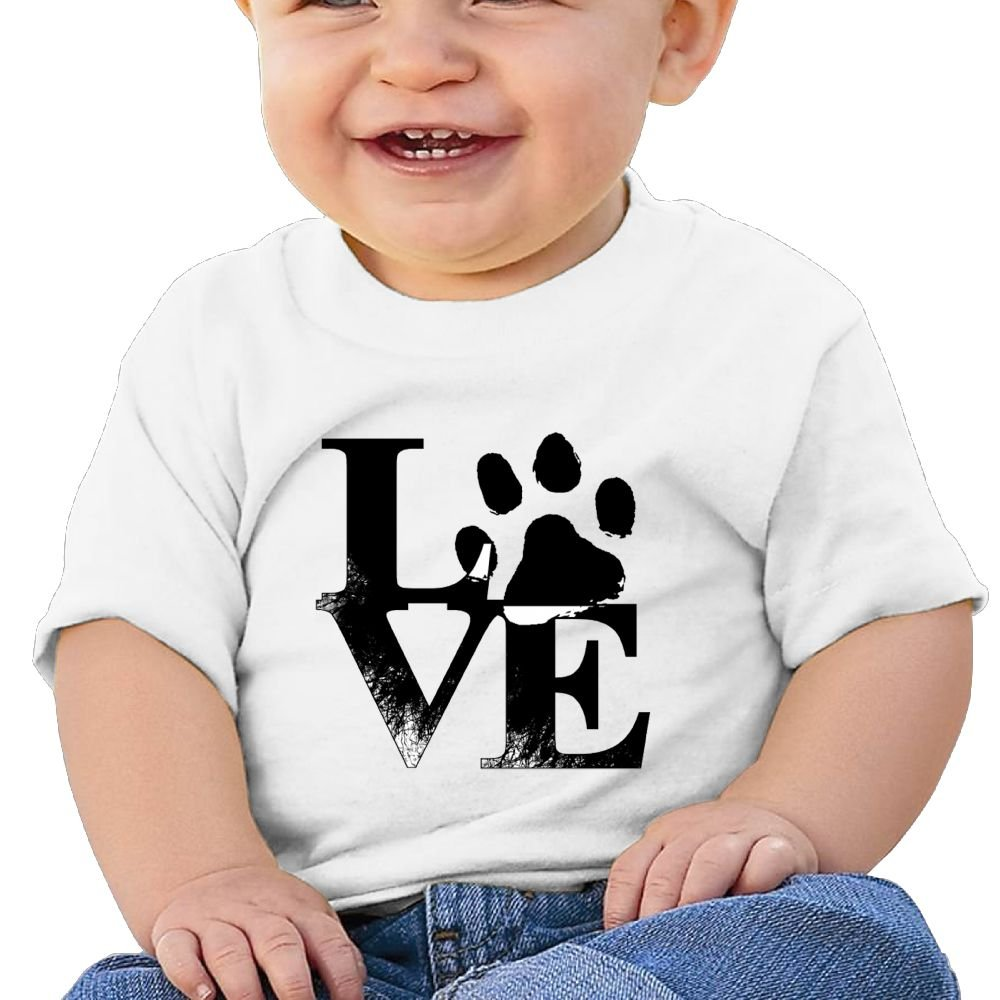 REBELN Love Paw Cotton Short Sleeve T Shirts for Baby Toddler Infant