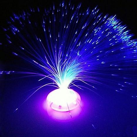 Fibra óptica de colores LED flor lámpara noche luz fiesta Decoración para el hogar de vacaciones
