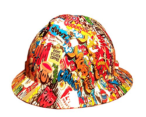 Izzo Graphics Sticker Bomb MSAV-GUARD Full Brim Hard (Full Graphics Hard Hat)