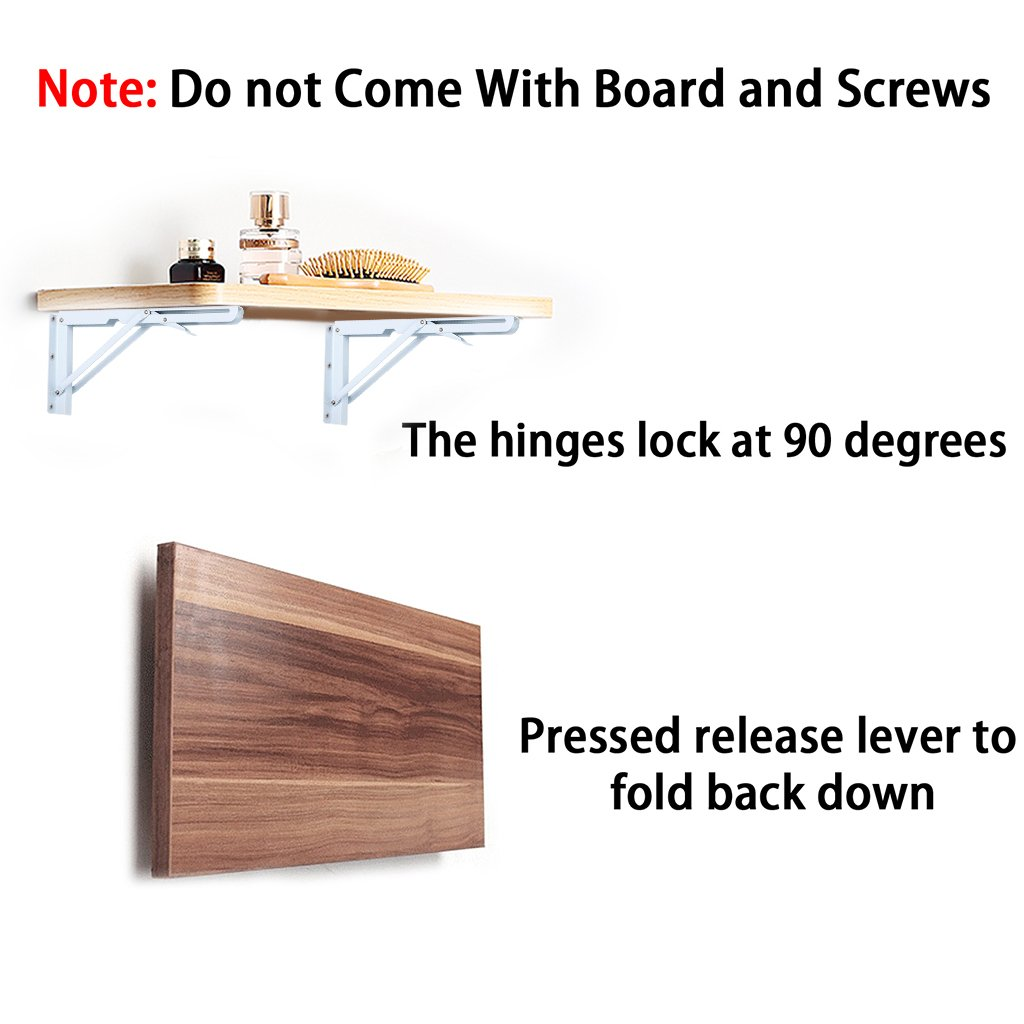 Groovy Btsky 2 Pcs 40Cm White Metal Triangle Folding Shelf Bracket Support Wall Bracket Max Load Approximately 60Kg 132Lb Board And Screws Are Not Caraccident5 Cool Chair Designs And Ideas Caraccident5Info