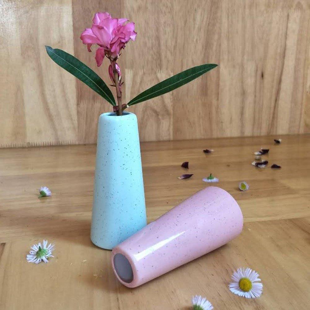 Hosaire 1X Florero Ceramica Jarr/ón /únicos de Cer/ámica Pancrom/ático Cer/ámico,Flores Plantas Florero Moderno de Porcelana Idea Decor Home Ba/ño Regalo Ideal Boda Paquete Azul