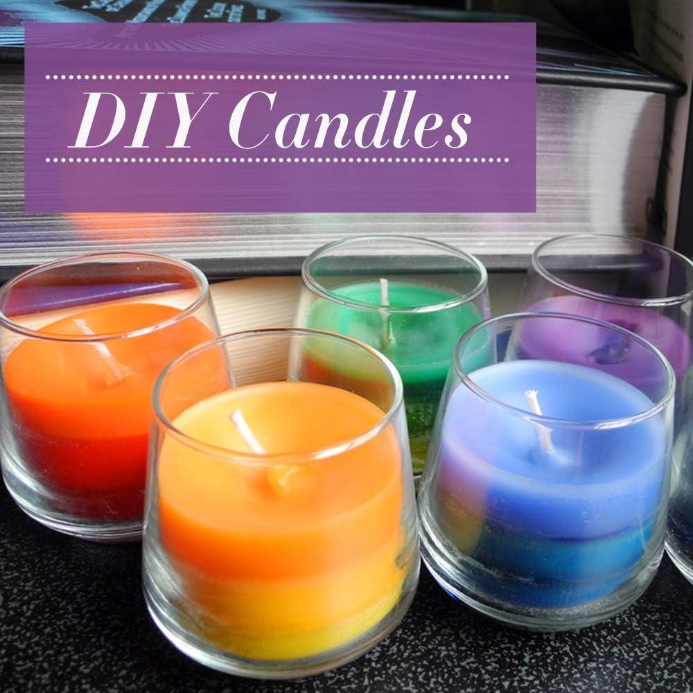 24PCS Candle Dye Sanfter Sicherer Sojawachsfarbstoff F/ür Geschenke Farbfarbe F/ür Wachs Yoouo Soja Kerzenwachs Zum F/ärben Von Kerzen