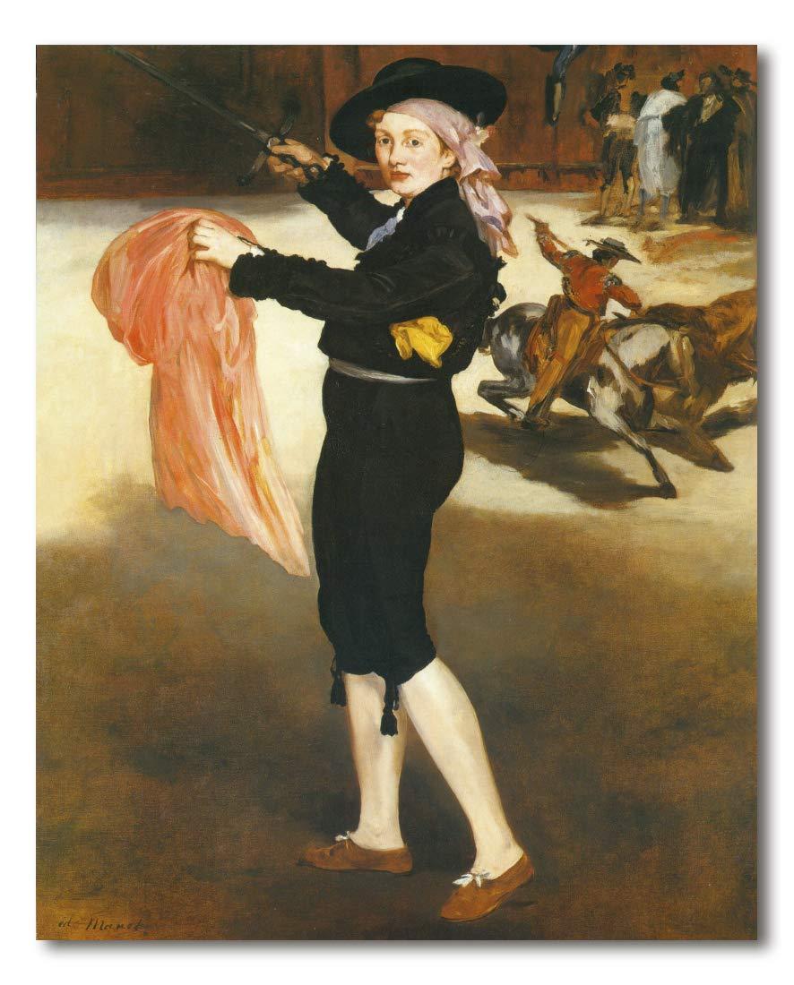 diseño único MultiColor 75x93cm Cuadro Decoratt Decoratt Decoratt  Mademoiselle Victorine en traje de torero - Eduard Manet 75x93cm. Cuadro de impresión directa.  grandes ofertas
