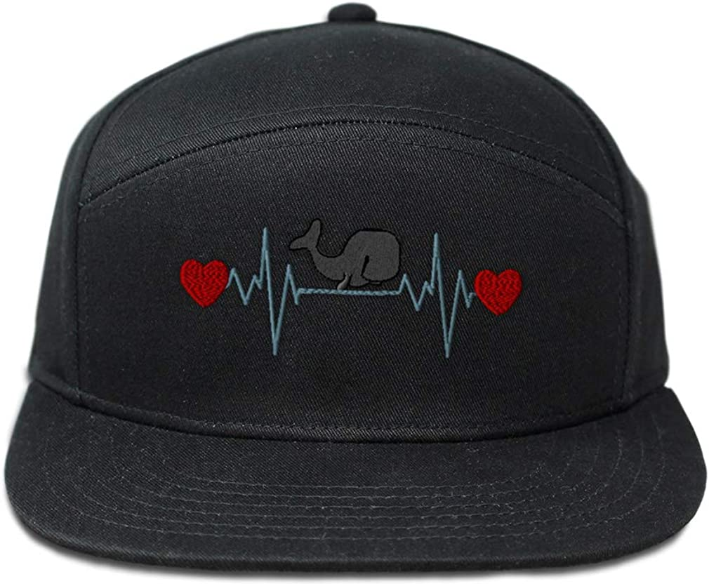 Snapback Hats for Men /& Women Whale Lifeline B Embroidery Cotton Snapback Black
