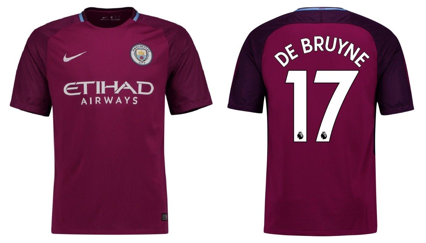 Manchester City F.C. Trikot Kinder 2017-2018 Away - De Bruyne 17