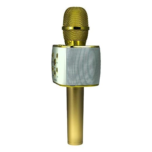 Ksix SING & GO - Micrófono-altavoz-karaoke portátil para smartphones (Bluetooth 3.0, EDR, ecualizador integrado) dorado: Amazon.es: Instrumentos musicales