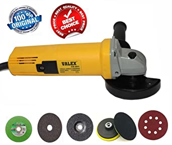 Digital Craft HEAVY DUTY 850W 11000RPM 100MM Angle Grinder With Free Grinding cutting wheel Valcro Pad Dics Hot Sale
