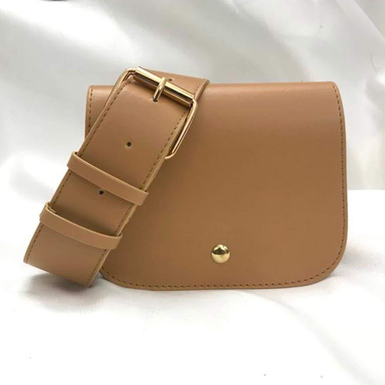 Women Waist Bag Fashion Belt Bags Sports Coin Purse Shoulder Cover Case women Messenger bag,brown