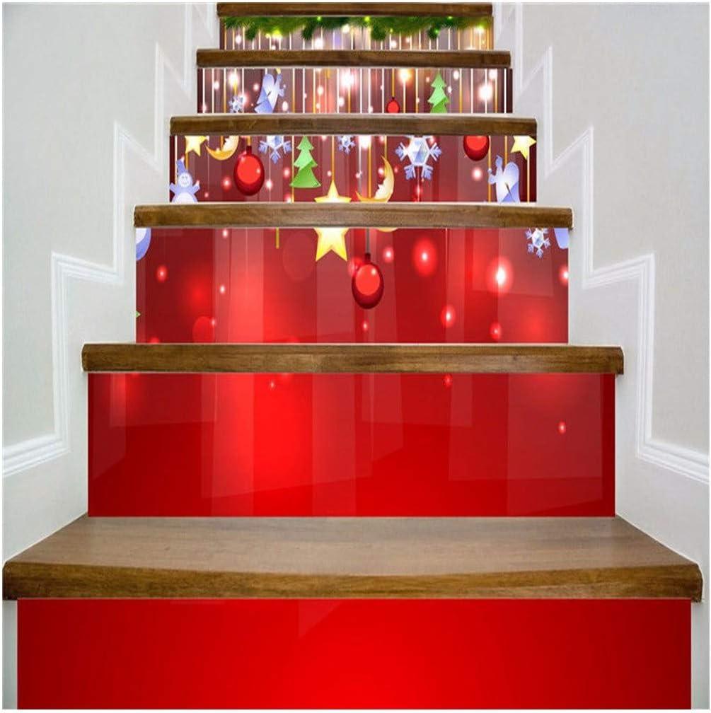 SERFGTFH 3D PVC Adhesivos De Pared De Navidad Muñeco De Nieve Chimenea Escalera Autoadhesivo Pegatinas Decoracion De Navidad Nuevo Adhesivo De Pared: Amazon.es: Hogar