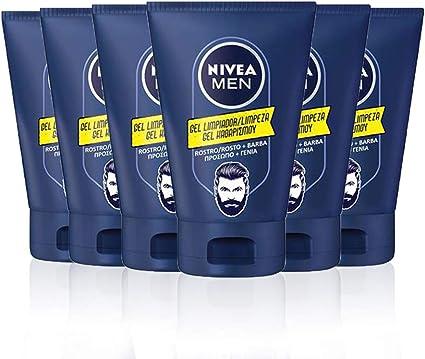 NIVEA MEN Gel Limpiador Rostro y Barba, gel para el cuidado de la ...