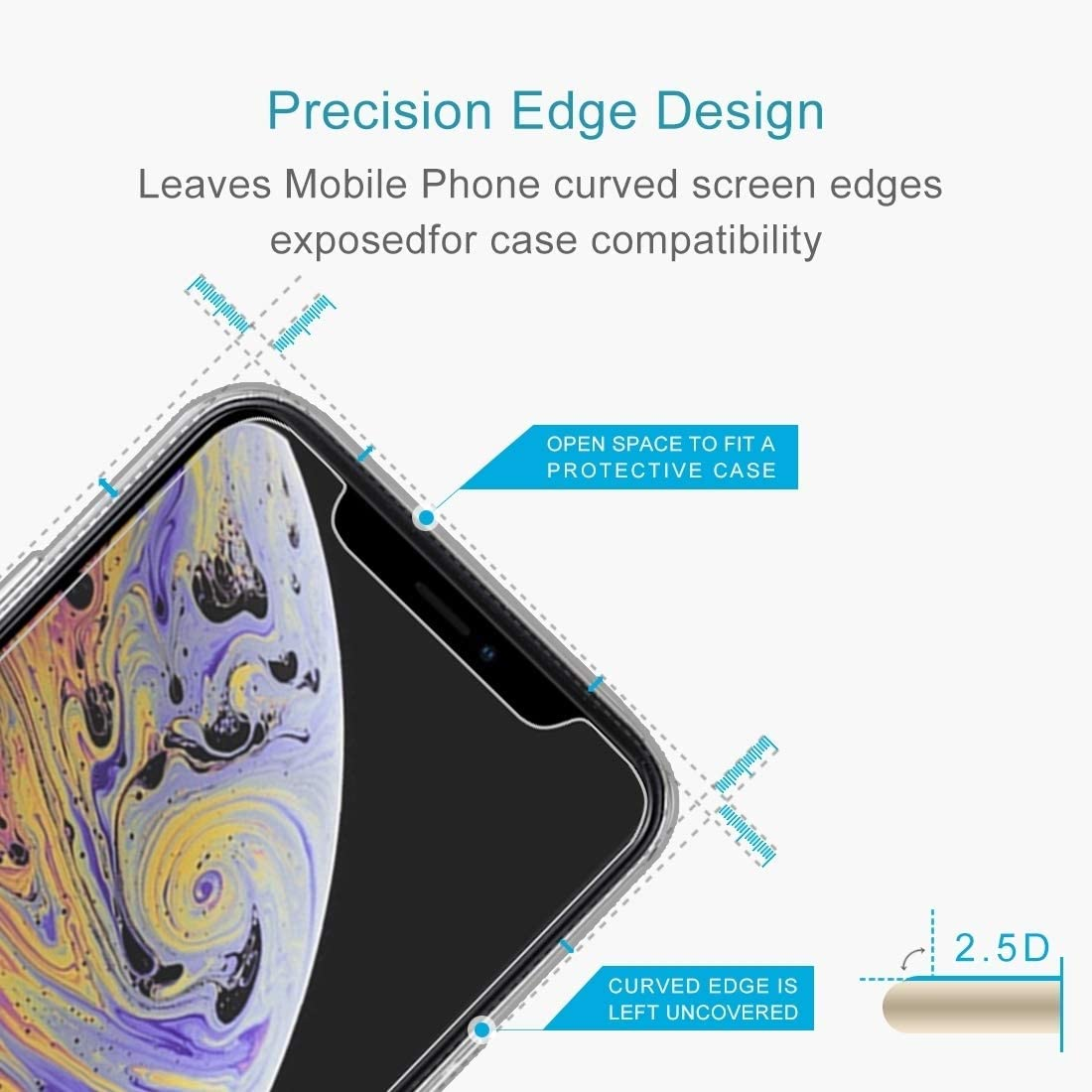 XHC Screen Protector Film 100 PCS for Huawei Enjoy 5S 0.26mm 9H Surface Hardness 2.5D Explosion-Proof Tempered Glass Screen Film Tempered Glass Film