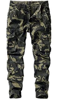 Zimaes-Men Military Lightweight Outdoor Straight-Fit Stylish Cargo Pant