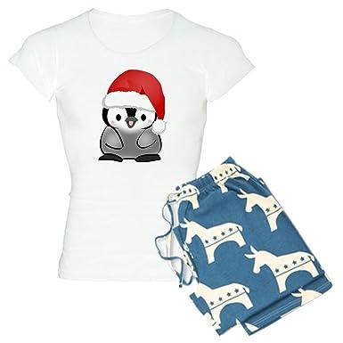 Amazon.com  CafePress-Cute Holiday Penguin Women s Light Pajamas ... 964c8f320