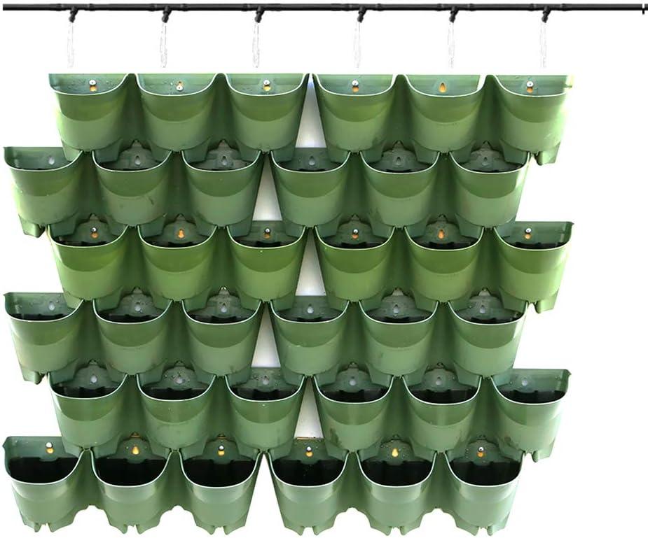 Wall-mounted Flower Pot Self Watering Vertical Planter Wall Home Garden Decor