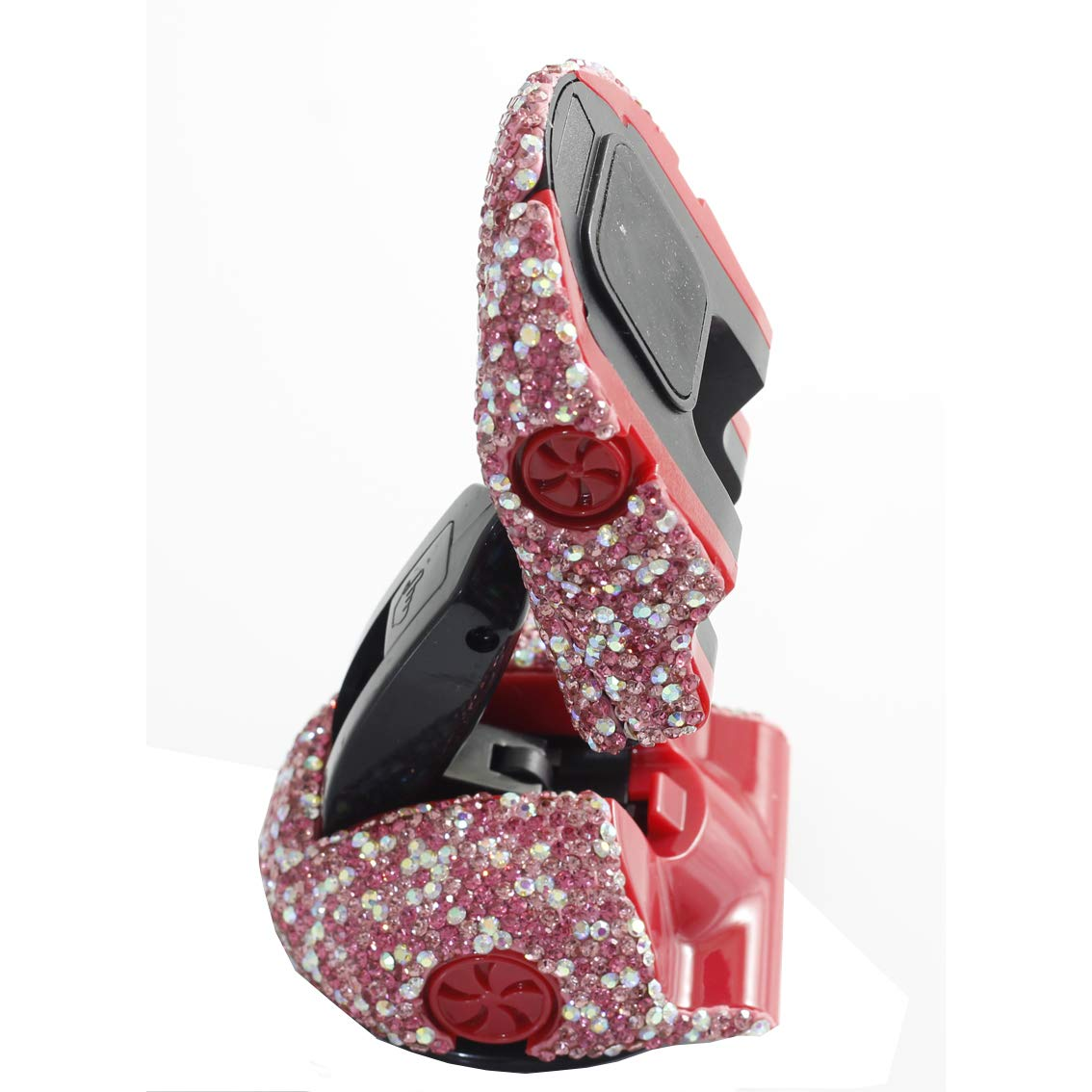 Bestbling Bling Rhinestone Sports Car Shaped Magnetic Car Phone Holder Stand Bracket Silver