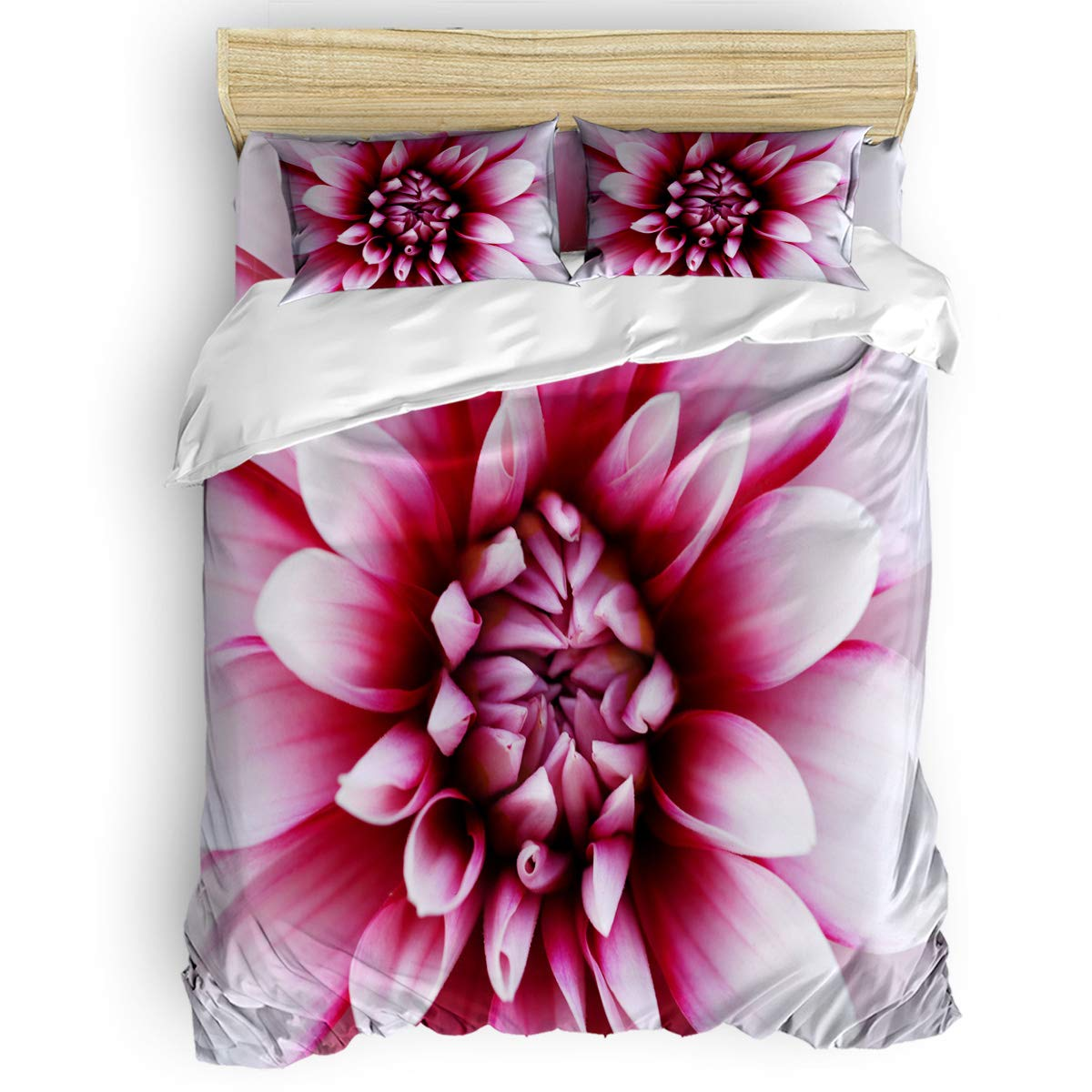 掛け布団カバー 4点セット 青い胡蝶蘭 寝具カバーセット ベッド用 べッドシーツ 枕カバー 洋式 和式兼用 布団カバー 肌に優しい 羽毛布団セット 100%ポリエステル クイーン B07TC3L56P Pink flowersLAS0255 クイーン