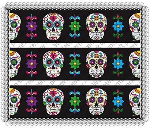 Dia De Los Muertos Day of the Dead Halloween 2 Celebration Birthday Cake Borders Designer Prints Edible Cake Decoration