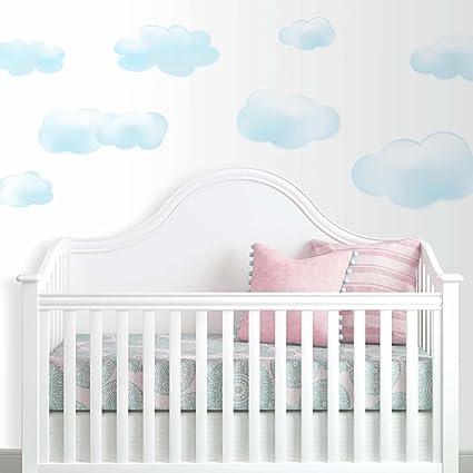 Adesivi Per Stanzette.Jomoval Room Mates Adesivi Da Parete Per Cameretta Bambini Motivo Nuvole