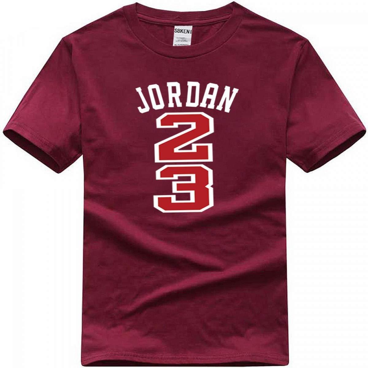 eab72afd1f Amazon.com: Jordan 23 Hip Hop Short Sleeve T Shirt Men Jordan 23 Print Men  Swag T-Shirt: Clothing