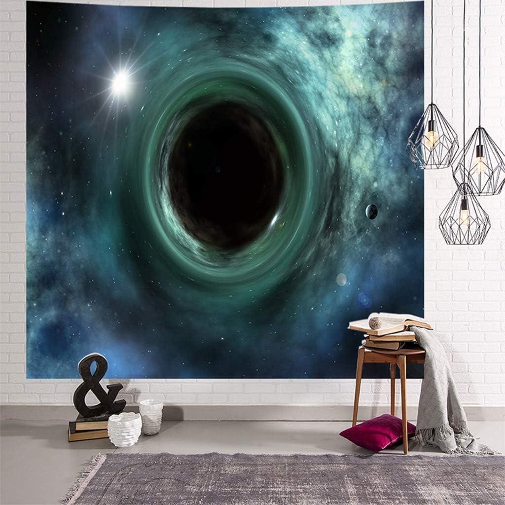 N//X TapizTapiz Creativo de Agujero Negro Tapiz de Universo Tapiz de Pared Sala de Estar Decoraci/ón de Dormitorio