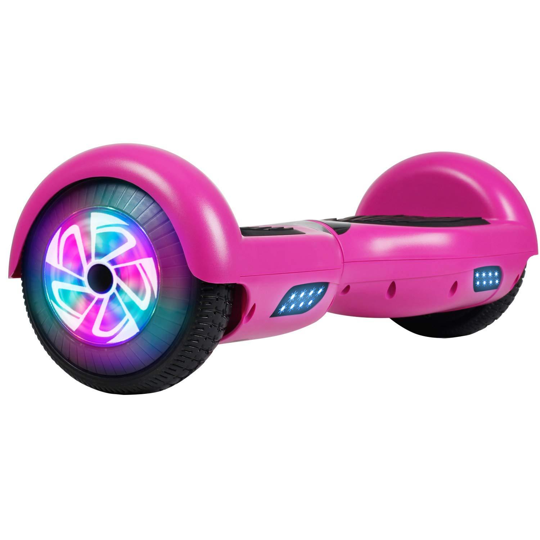 Felimoda Hoverboard 6.5 inch w Bluetooth Speaker and LED Wheels Side Lights- UL2272 Certified